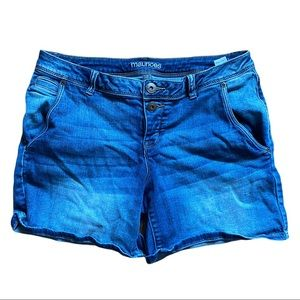 Maurices Button Fly Denim Shorts Size 11/12